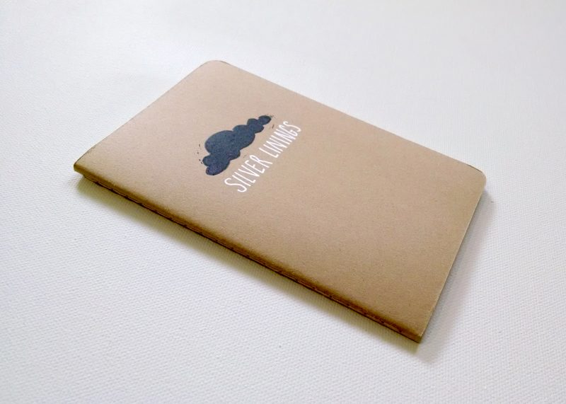 side view of silver linings notebook