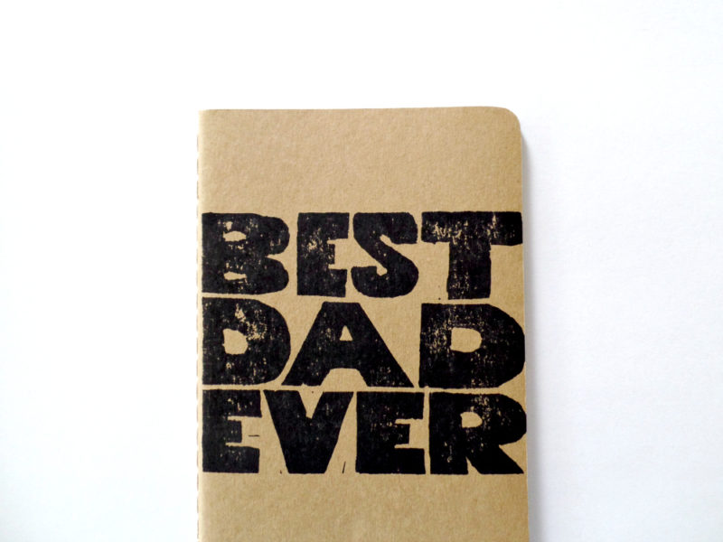 hand printed best dad ever small notebook