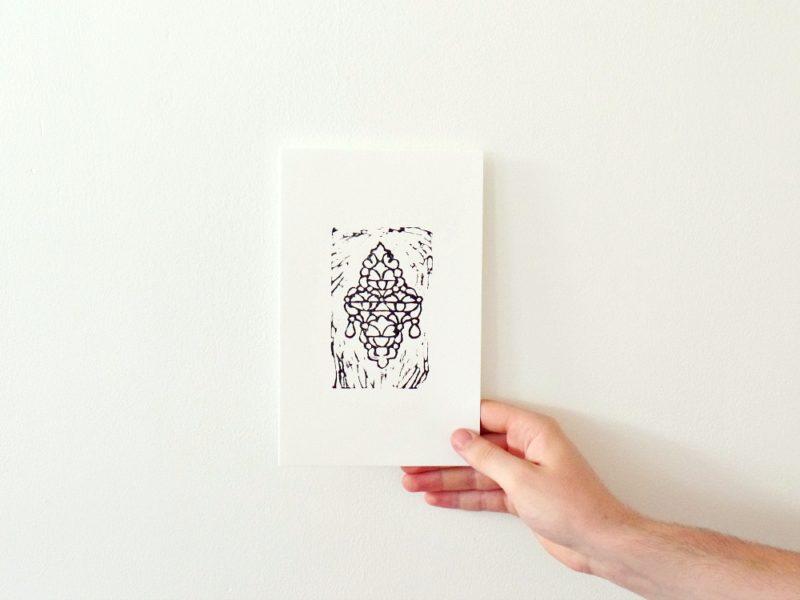 Henna art block print