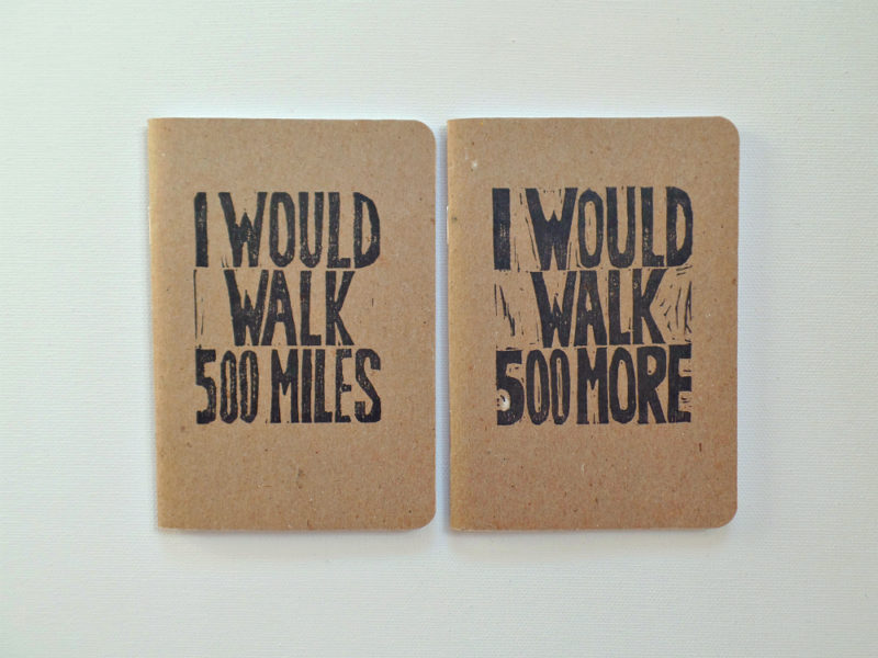 i would walk 500 miles song lyric wedding vow books