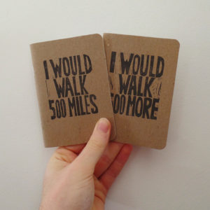 I would walk 500 miles wedding vow books