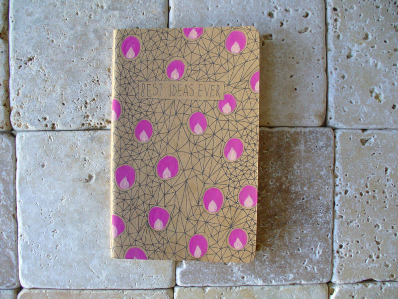 messy bed studio notebook