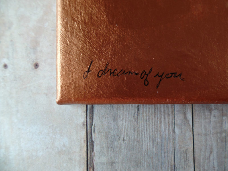 i dream of you small painting by messy bed studio
