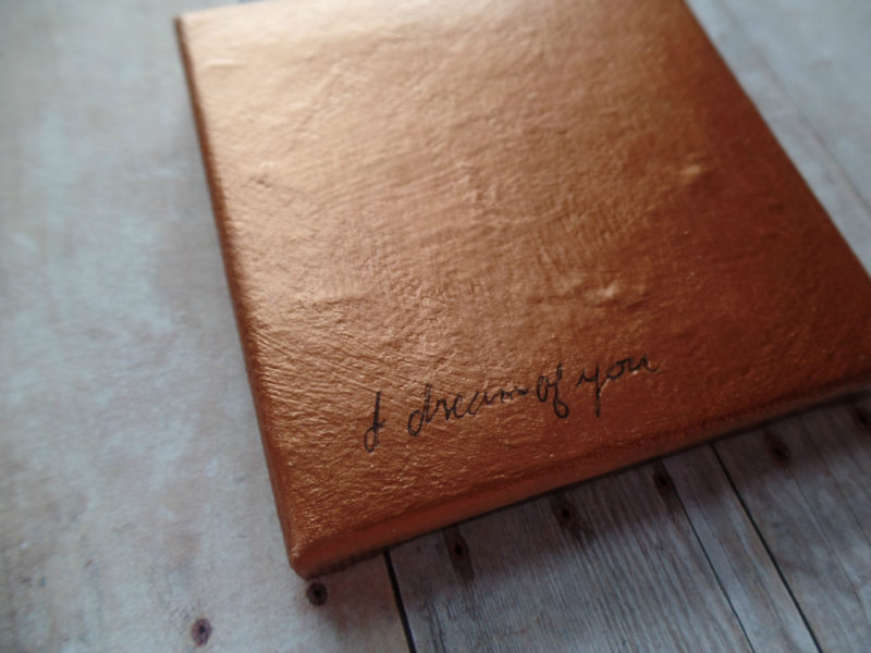 copper poem painting by messy bed studio