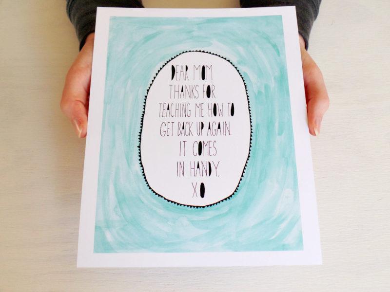 Dear Mom print mint