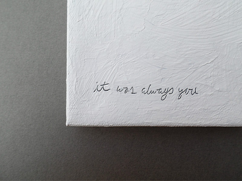 it was always you mixed media painting by messy bed studio