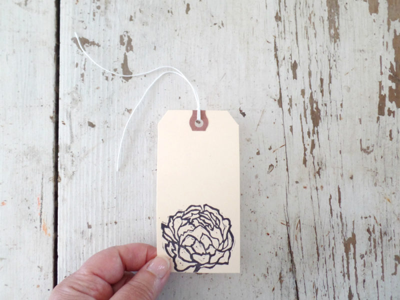 peony wedding wish tags by messy bed studio