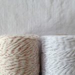silver and rose gold bakers twine