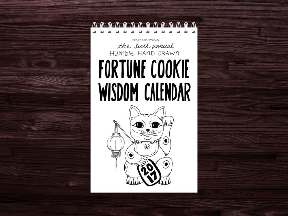 2017 fortune cookie wisdom calendar
