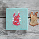 paper doll collage by messy bed studio