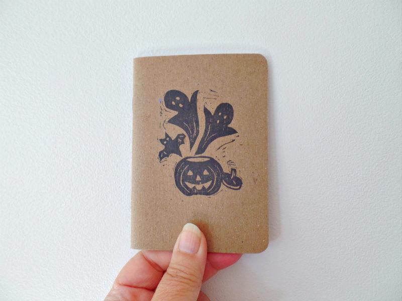halloween pumpkin notebook