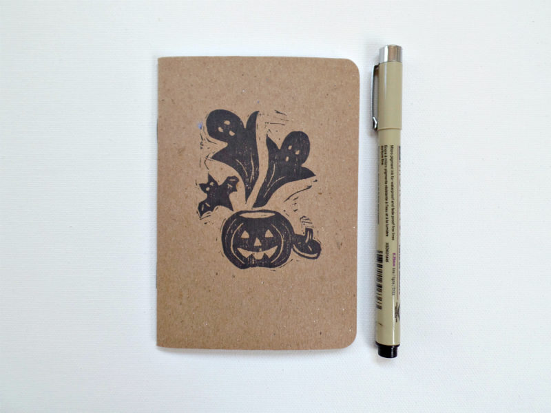ghost and pumkin notebook