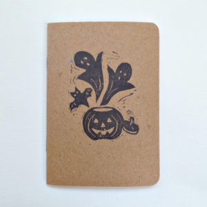 hand printed halloween party favor