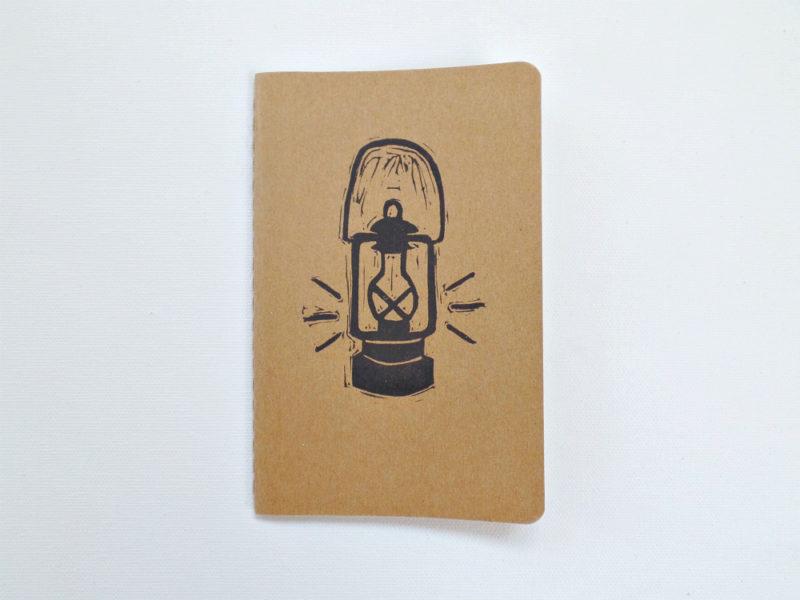vintage lantern notebook