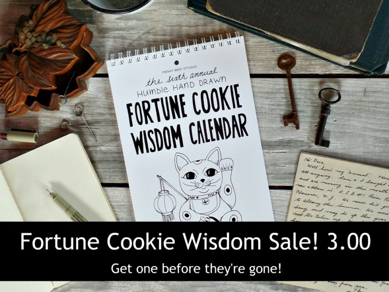 2017 Fortune cookie wisdom calendar on sale