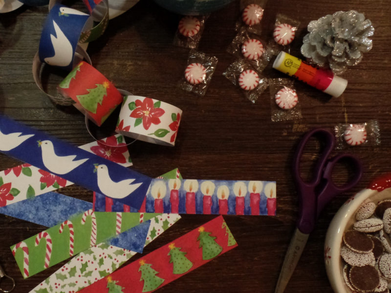 Christmas paper chain diy kit