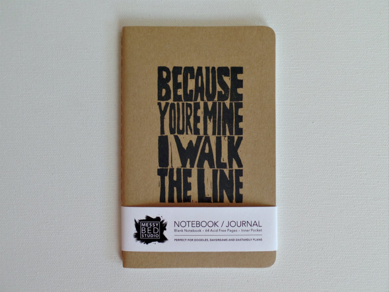 because you're mine notebook by messy bed studio