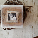 one of a kind treasure box with vintage photo