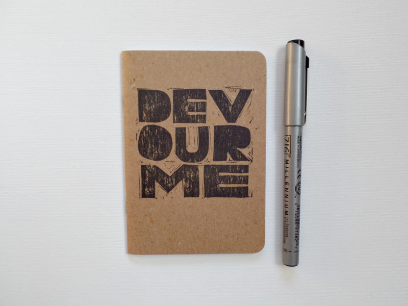 Devour me Alt-j song lyrics small notebook