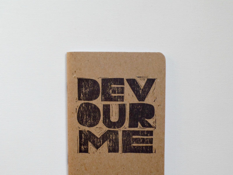 Devour me small notebook