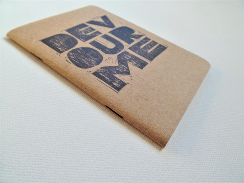 devour me hand printed pocket notebook