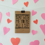 hand printed song lyric notebook