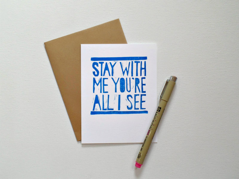 shut up and dance with me card with envelope