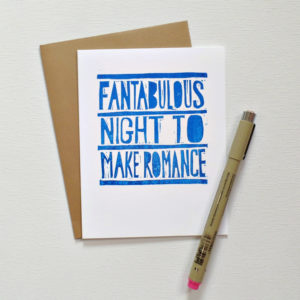 Fantabulous Night to Make Romance Card
