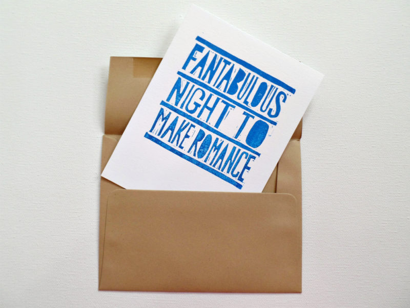 fantabulous night to make romance card in envelope