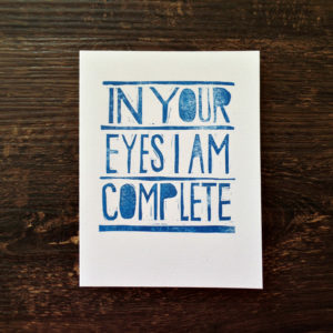 in your eyes anniversary card