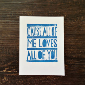 all of me romantic card