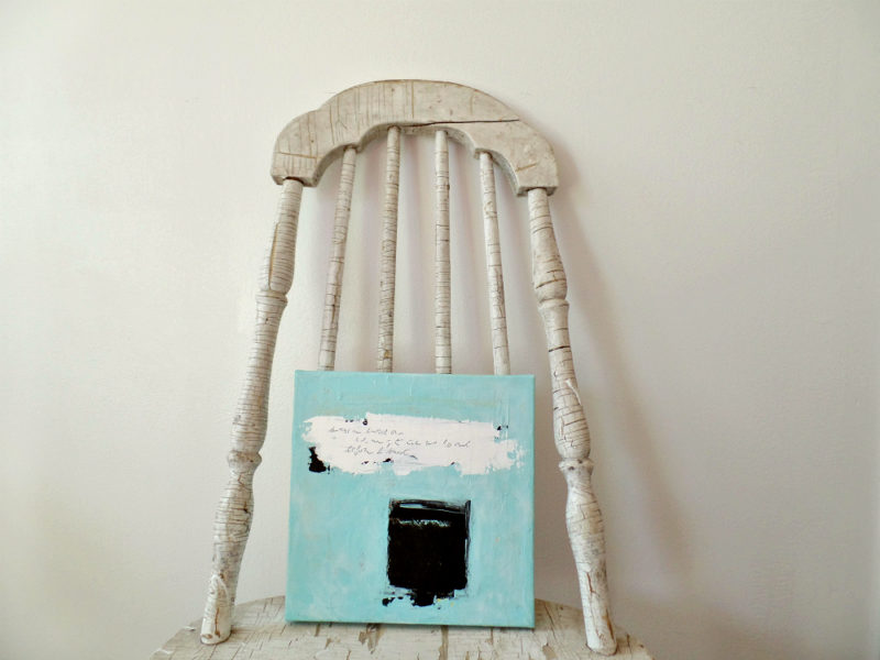 original fine art on chair by messy bed studio
