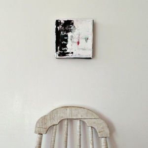 abstract art painting by messy bed studio