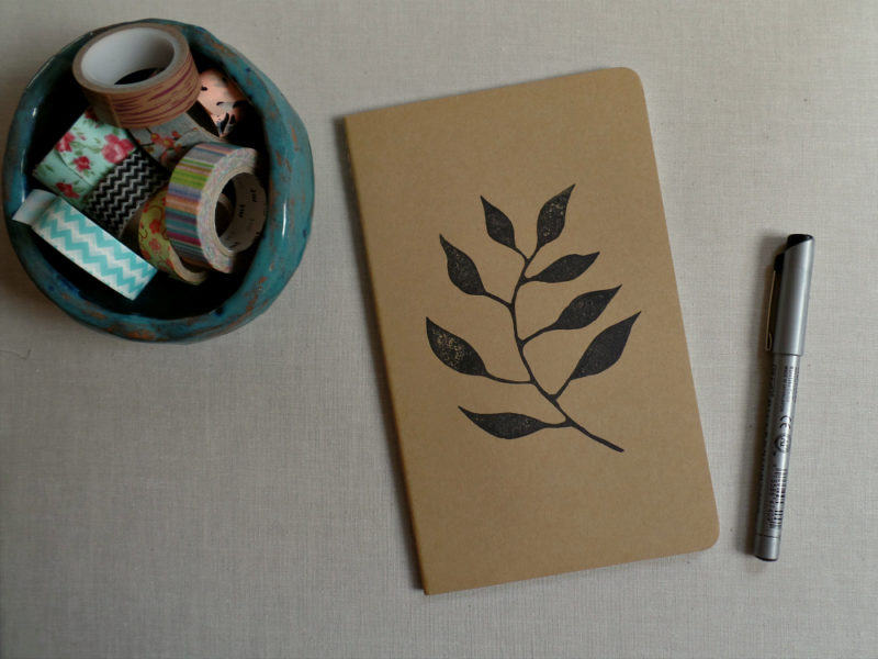 garden journal with leaf design