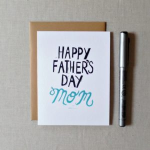 happy fathers day mom card from daughter