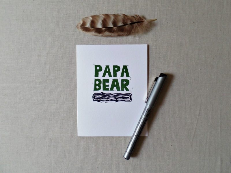 outdoor themed fathers day card