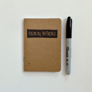 radical notions small notebook by messybedstudio