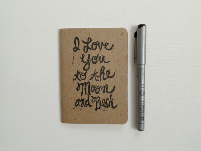 i love you to the moon and back small notebook and pen