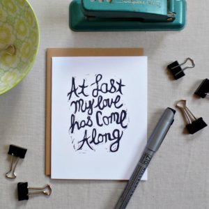 Etta James song lyrics At last my loves has come along card