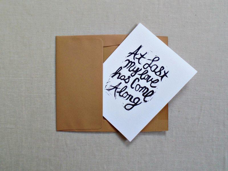 Etta James song lyrics card in envelope