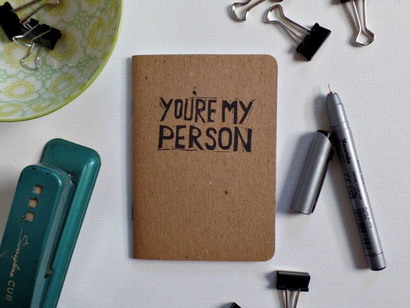 you're my person notebook on desk
