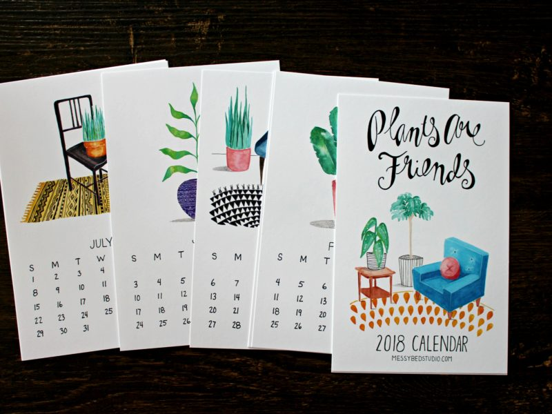 months of the plants are friends 2018 calendar