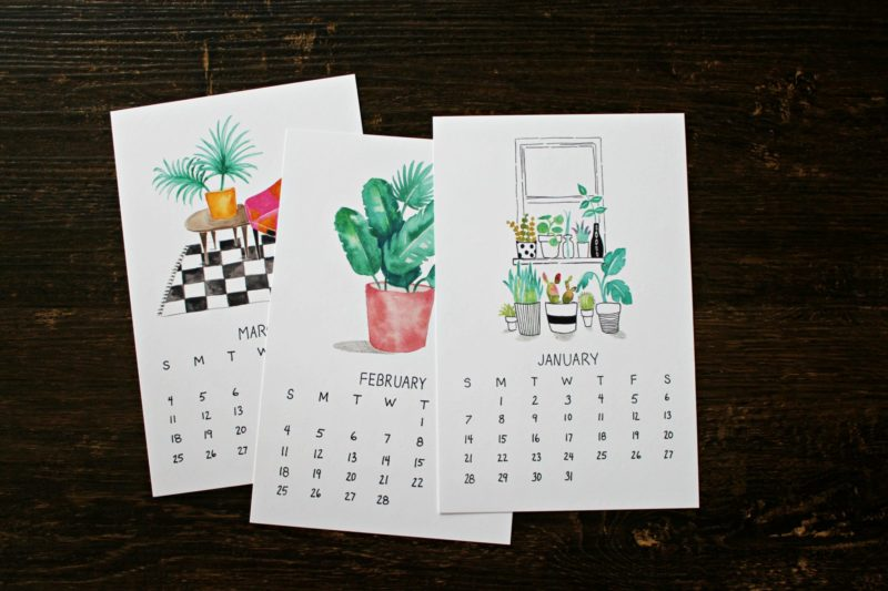 plants are friends monthly 2018 calendar