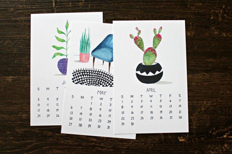 plants are friends botanical 2018 calendar