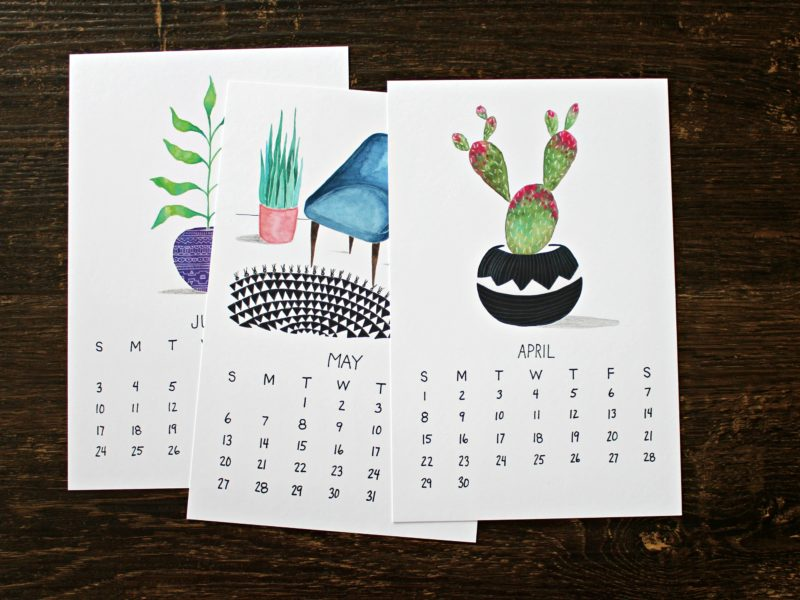 plants are friends botanical 2018 calendar