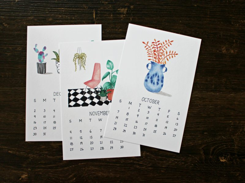 pages from plants are friends calendar