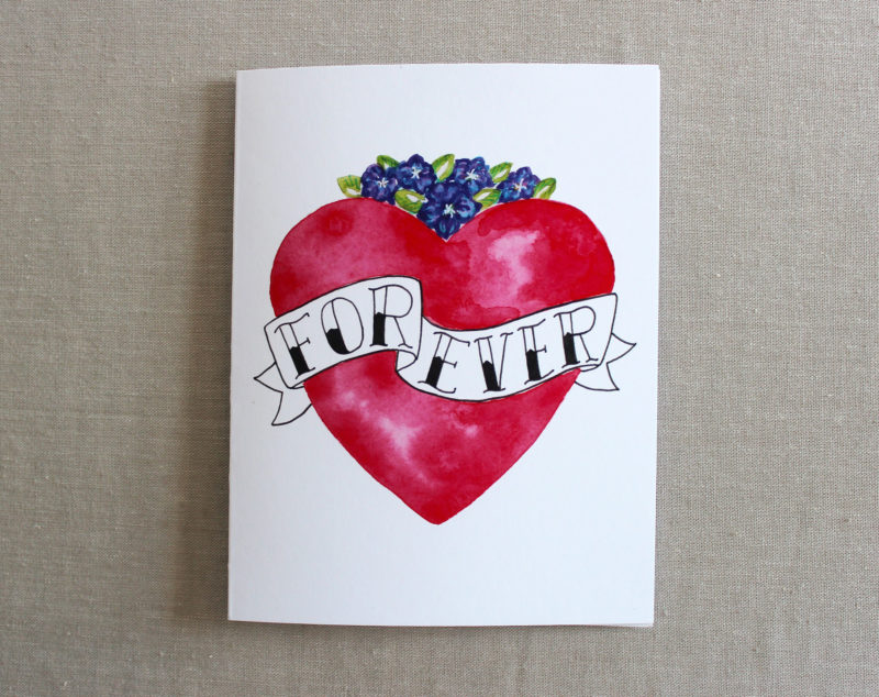 forever I love you card for valentines day