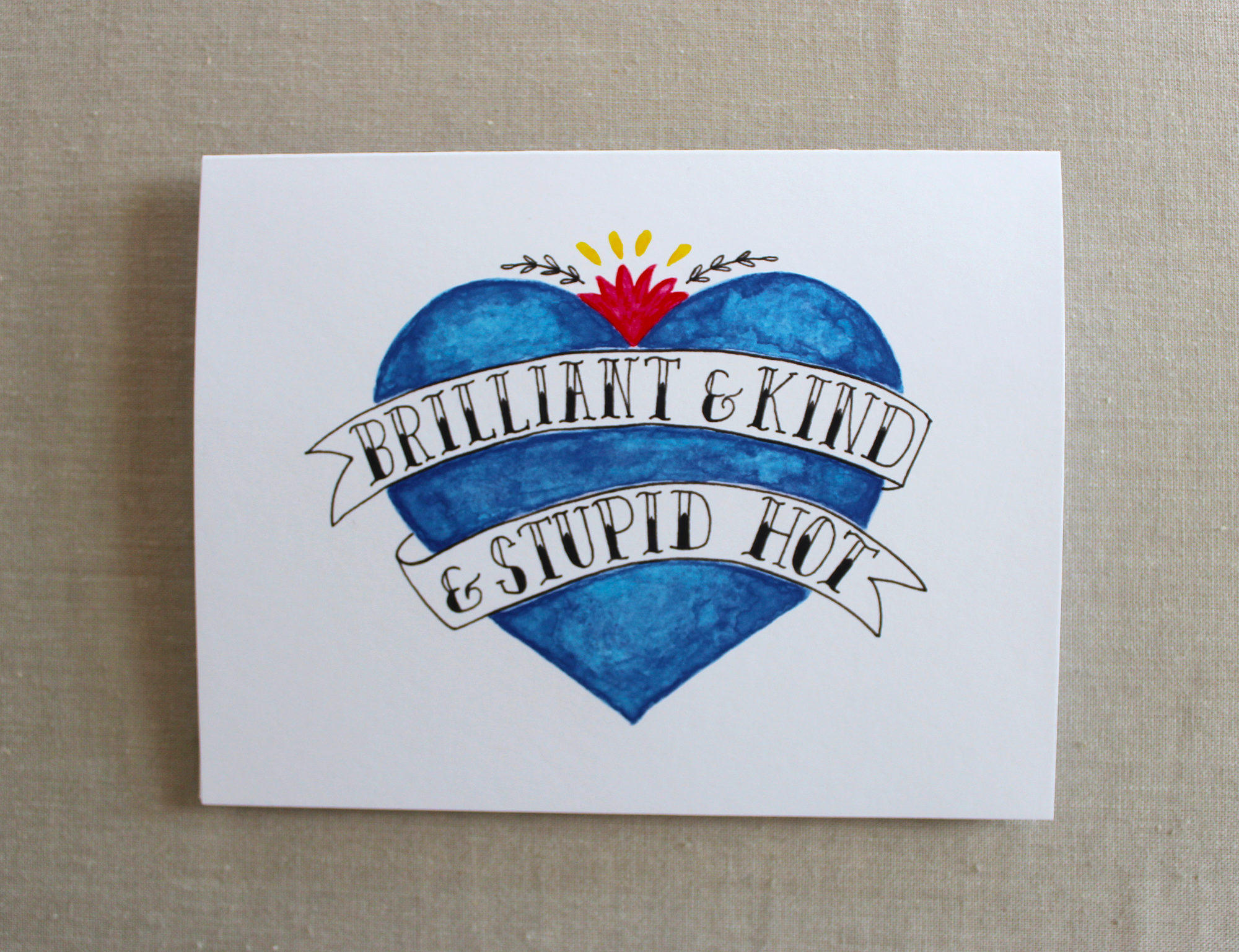 Brilliant And Kind Best Friend Card Messy Bed Studio