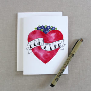 I love you forever card for valentines day