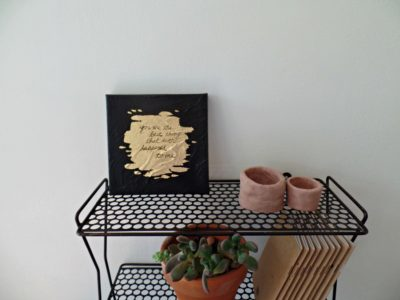 your are the best thing gold leaf painting on shelf